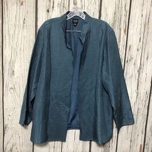 Eileen Fisher silk Open Front Cardigan